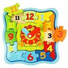 Houten Lion Clock Puzzel Bigjigs
