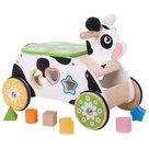 Houten Loop en Sorteerwagen Koe Bigjigs Toys