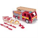 Houten Brandweerwagen 9 delig