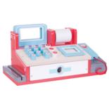 Houten kassa met scanner