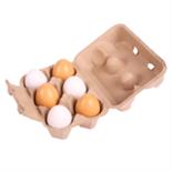 Houten eieren in doosje a 6 stuks