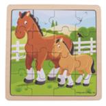 Houten paarden puzzel 16-delig