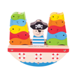 Houten piraten schommelboot