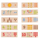 Houten nummer puzzel 30-delig