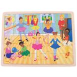 Houten puzzel ballet 35-delig