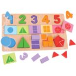 Houten puzzel met cijfers 25-delig