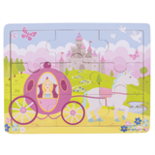 Houten puzzel prinses 9-delig