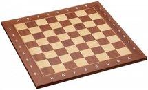 Houten schaakbord mahoni en esdoorn met randomschrijving