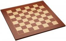 Houten schaakbord mahoni en esdoorn zonder randomschrijving