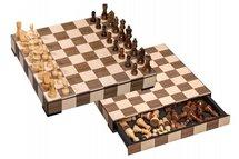 Houten schaakset met lade
