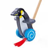 Houten duw penguin
