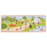 Houten park puzzel 24-delig