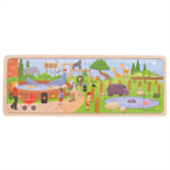 Houten dierentuin puzzel 24-delig