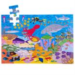 Houten vloerpuzzel met zee dieren 48-delig