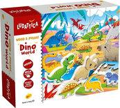Houten puzzel met Dino's 24-delig