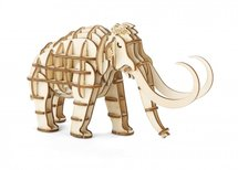 Mammoet - Houten 3D Puzzel 50 stukjes