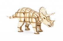 Triceratops - Houten 3D Puzzel 56 stukjes