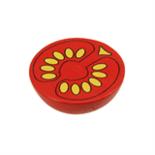 Houten halve tomaat