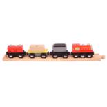 Houten goederen trein