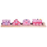 Houten roze trein