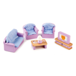 Houten kuiskamer meubels voor poppenhuis