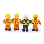 Houten bouwvakers