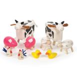 Houten boerderij dieren a 10 stuks