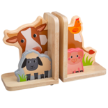 Houten boekensteunen boerderij dieren