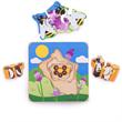 Houten levensloop puzzel honingbij 7-delig