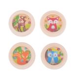 Houten balletjes spel met vosje afbeelding