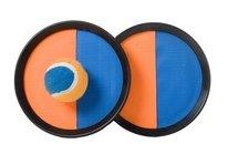 Catchballset,⌀19 cm, met klittenband, oranje/blauw, in tas