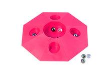 Knikkerpot roze met knikkers diameter 22 cm