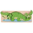 Houten nummer puzzel krokodil 10-delig