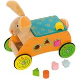 Houten Loopwagen en Sorteerwagen Konijn Bigjigs Toys