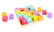 Houten tray met alfabet Houten Blokken Bigjigs Toys