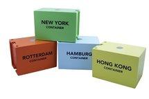 4 houten containers New Classic Container Havenlijn