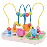 Houten Kralenframe Bloemen Bigjigs Toys