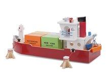 Houten Containerboot met 4 containers