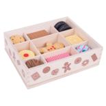 Houten doos met koekjes