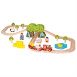 Houten boerderij treinbaan 44-delig