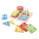 Houten 4 vormen puzzel