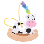 Houten schommel kralen koe