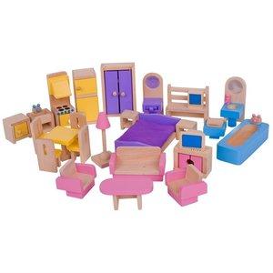 Speelgoedbox-Poppenhuis-Meubelset-JT116- Bigjigs