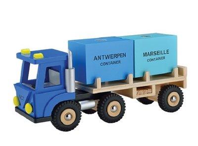Houten Vrachtwagen met 2 containers