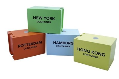 4 Houten Containers New Classic Toys