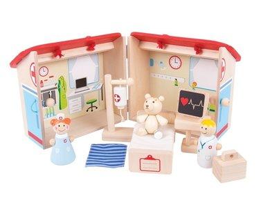 Houten Ziekenhuis Mini Speelset Bigjigs