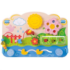 Speelgoedbox-Houten-Activiteiten-Center-Bloemen-BB115-Bigjigs