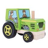 Houten tractor BB125