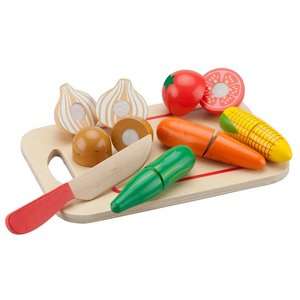Houten groente snijset New Classic Toys